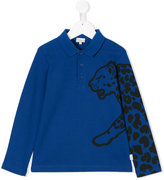 Paul Smith tiger embroidered polo top