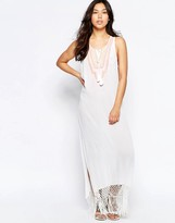 Liquorish Beach Maxi Dress With Embroidery