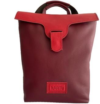 Kartu Studio Convertible Natural Leather Backpack/Handbag Lucerne - Cherry/Red