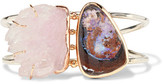 Melissa Joy Manning 14-karat Gold, Sterling Silver, Quartz And Opal Cuff - one size
