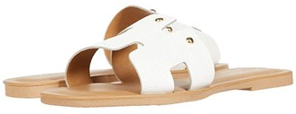 Massimo Matteo Leather Slide (White) Women's Shoes
