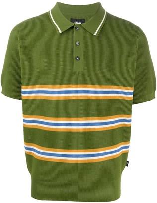 Stussy Chunky Knit Striped Polo Shirt
