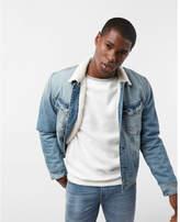 Express sherpa collar denim jacket