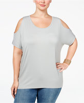 ING Plus Size Cold-Shoulder Tunic