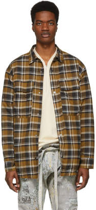 Fear Of God Brown Plaid Flannel Shirt Jacket