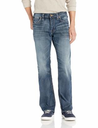 Silver Jeans Men's Zac Relaxed Fit Straight Leg Jean Indigo Dark Wash 30x34