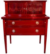 One Kings Lane Vintage Bussolini Solid Mahogany Tambour Desk