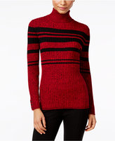 Style&Co. Style & Co. Petite Striped Turtleneck Sweater, Only at Macy's