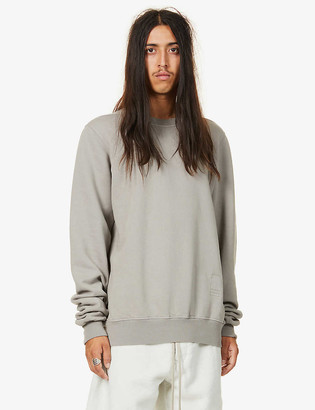Rick Owens Relaxed-fit crewneck cotton-jersey sweatshirt