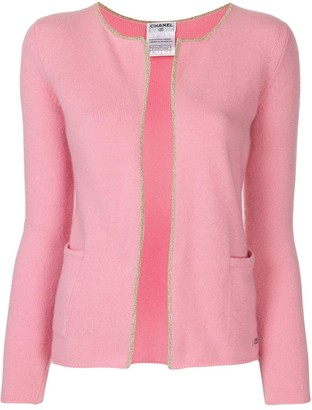 Chanel Pre Owned 2001 Lurex-Edging Open Cardigan