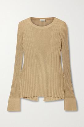 By Malene Birger Orlia Metallic Ribbed-knit Top