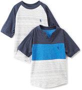 English Laundry Blue & White Stripe Raglan & Tee - Todder & Boys
