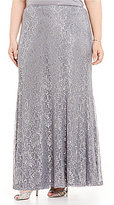 Emma Street Plus Metallic Lace Full Skirt