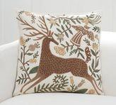 Pottery Barn Velvet Appliqué Deer Pillow Cover