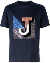 Juun.J marble J print T-shirt