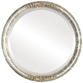 """The Oval And Round Mirror Store Contessa Framed Round Mirror in Champagne Silver, 15""""x15"""""""