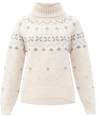 Bogner Sina Fair Isle Cashmere Sweater - Beige Print