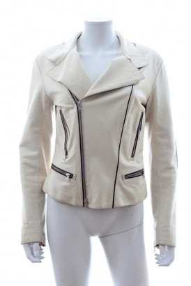Tod's Ecru Leather Jacket for Women