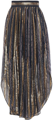Peter Pilotto Metallic Striped Silk-blend Voile Culottes
