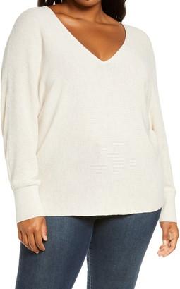 Leith V-Neck Dolman Sleeve Sweater