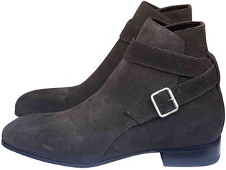 Balenciaga Black Suede Boots