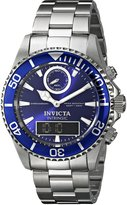 Invicta Men's 12469 Pro Diver Analog-Digital Display Swiss Quartz Watch