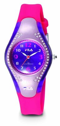 Fila Hi-Glow Watch with Soft PU Pink Strap