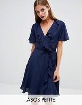 Asos Wrap Midi Tea Dress in Plain