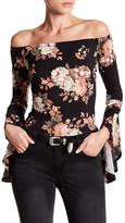Romeo & Juliet Couture Off-the-Shoulder Floral Bodysuit