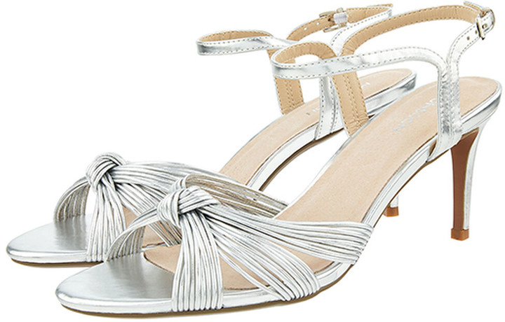 Under Armour Kitty Knot Heeled Sandals Silver