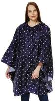 F&F Swallow Print Shower Resistant Poncho with Bag, Women's