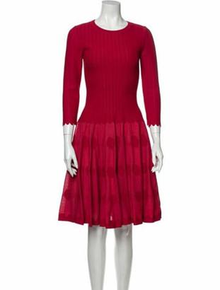 Alaia Polka Dot Print Knee-Length Dress Red