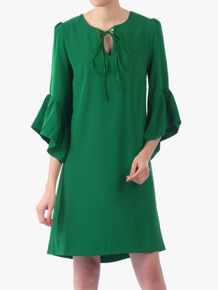 Jolie Moi Flare Sleeve Tunic Dress