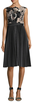 Tracy Reese Lace Bodice Pleated Midi Dress
