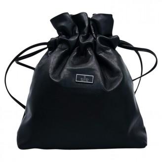 Gucci Black Leather Backpacks