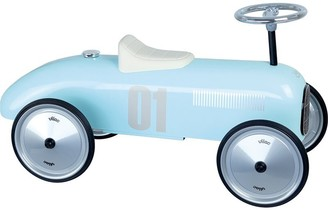 Vilac Vintage Ride-On Metal Car - Light Blue