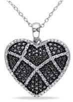 Catherine Malandrino Diamond Heart Pendant With Chain.