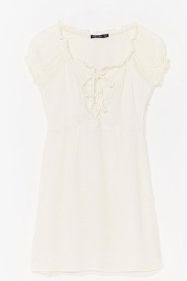Nasty Gal Womens Strings Attached Lace-Up Mini Dress - White