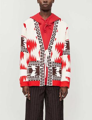 Alanui Icon Lapponia geometric-patterned cotton-knit cardigan