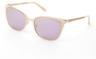 Ted Baker 53mm Metal Square Sunglasses