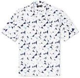 Theory Daze Camp-Collar Printed Cotton-Poplin Shirt