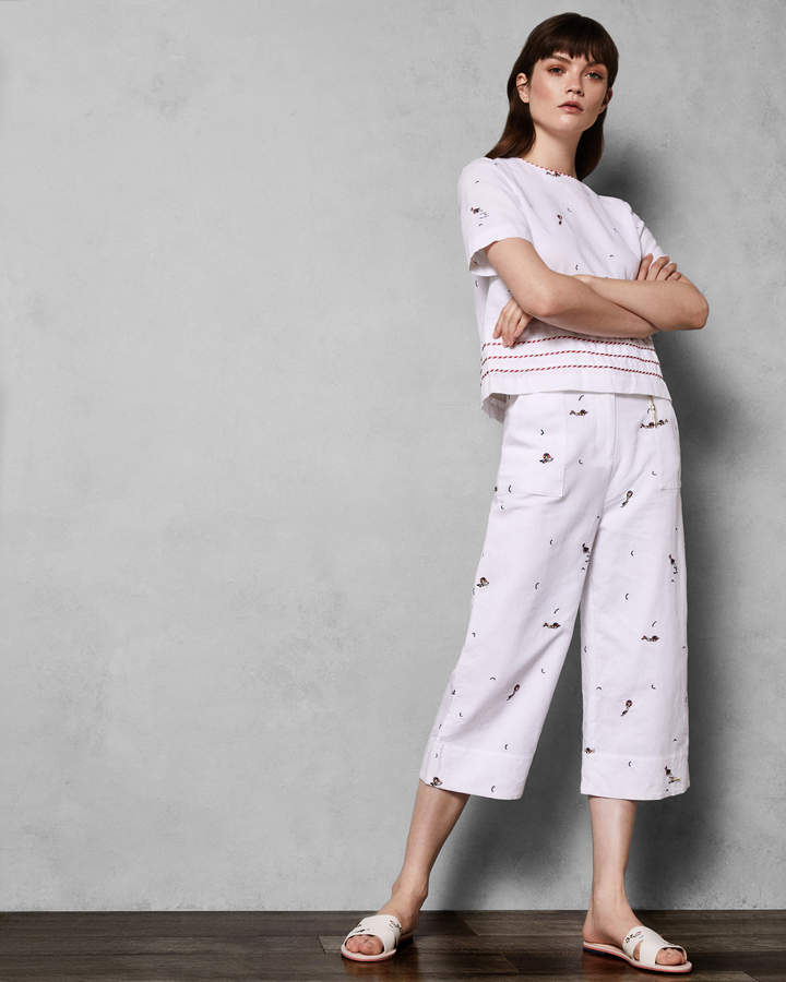 Ted Baker TRILLAA Stitch detail culottes