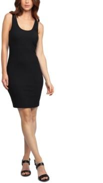 Black Tape Ribbed Bodycon Dress
