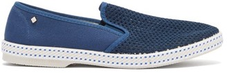 Rivieras Classic Slip-on Canvas Loafers - Mens - Light Blue