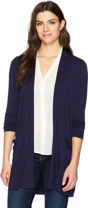 Foxcroft Women's Jillian Long Sleeve Solid Knit Open Cardigan