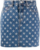 Tommy Jeans star print jeans skirt