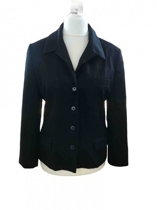 Calvin Klein Collection Black Wool Jacket for Women Vintage