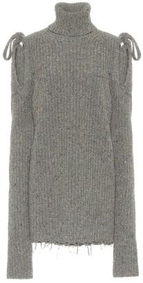 Alanui Venus ribbed-knit wool minidress
