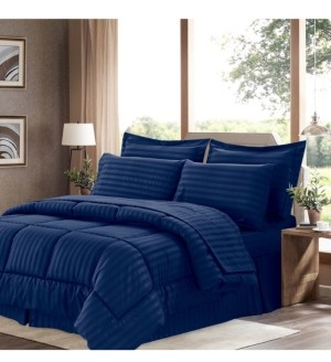 Sweet Home Collection Dobby Embossed Twin 6-Pc Comforter Set Bedding