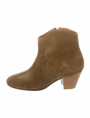 Etoile Isabel Marant Suede Western Boots Green